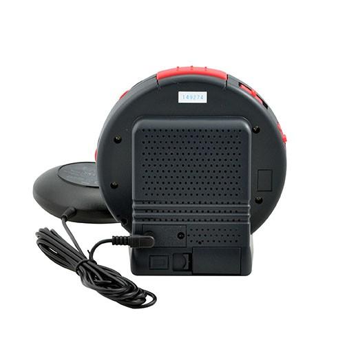 Sonic Alert Sonic Bomb SBB500ss Vibrating Alarm Clock in Stealth Grey