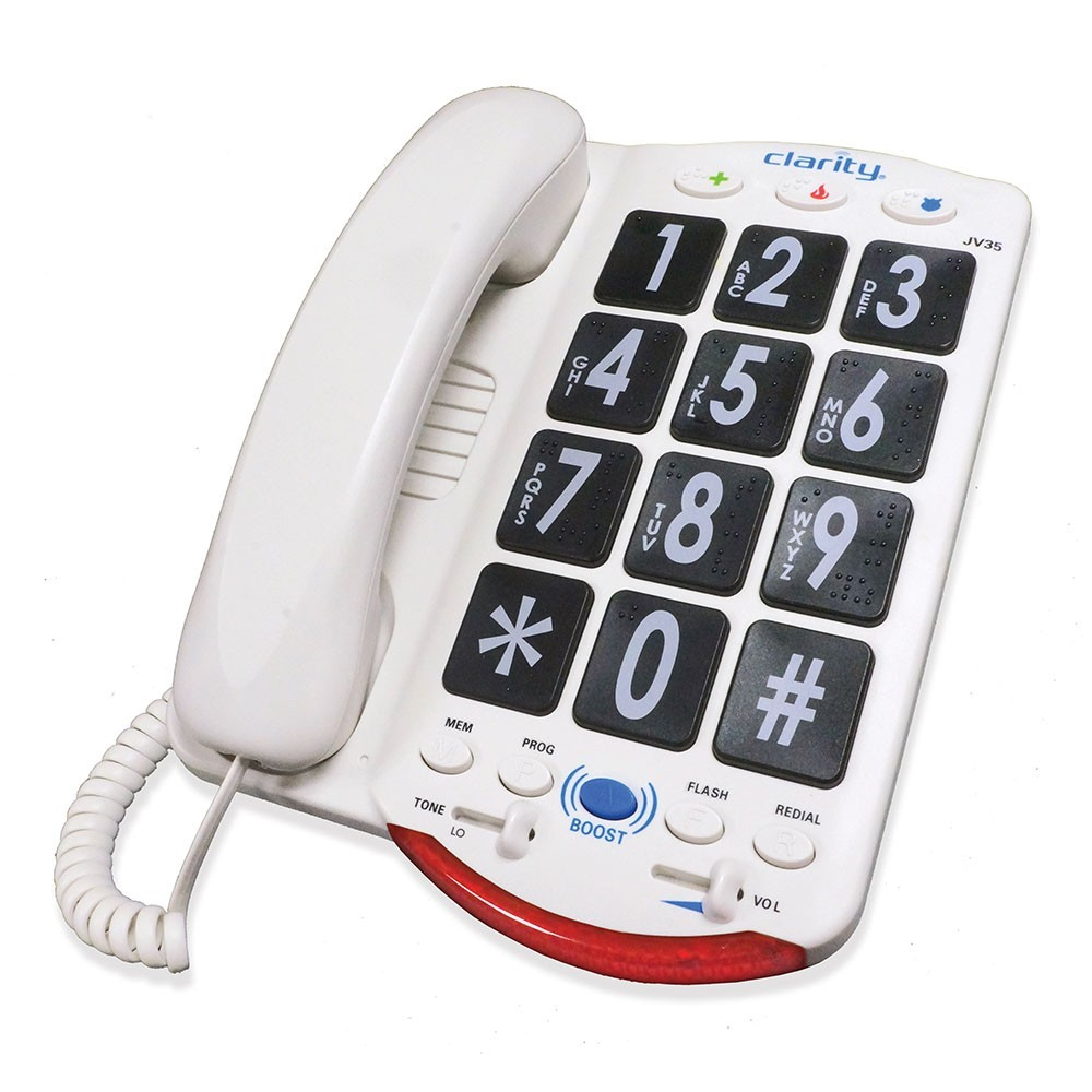 Clarity JV35 Amplified Braille Phone