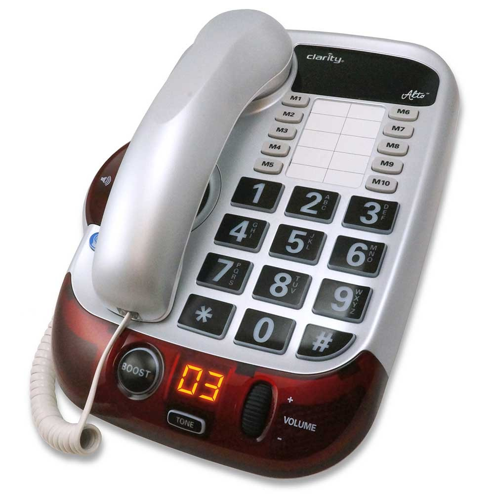 Clarity Alto White Amplified Phone